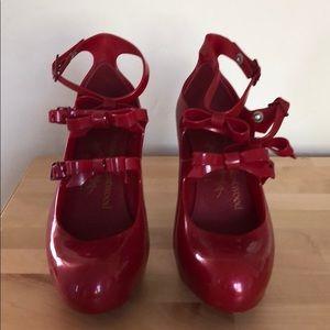Vivienne Westwood x Melissa red heels